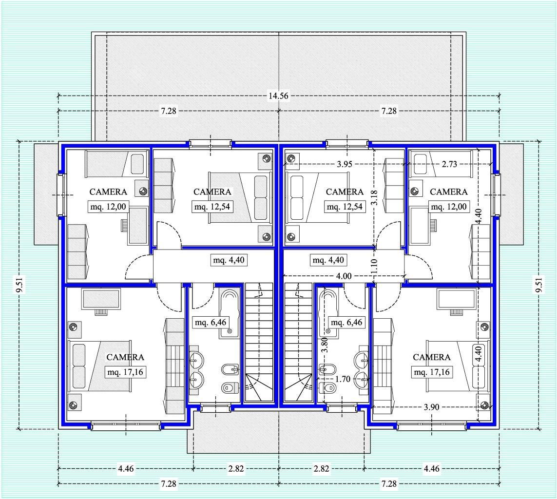 Case in xlam pomhaus s r l villetta bifamiliare for Piani di casa moderni con costi da costruire