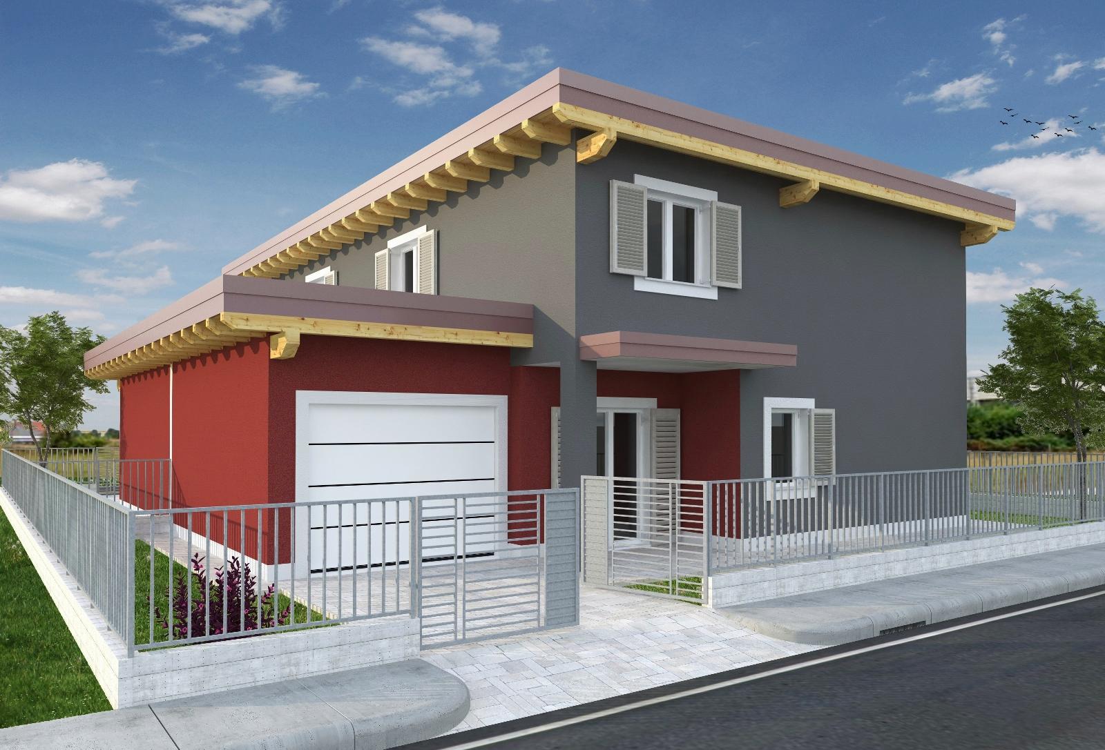 Case in xlam pomhaus s r l villetta bifamiliare for Moderni disegni di case a due piani