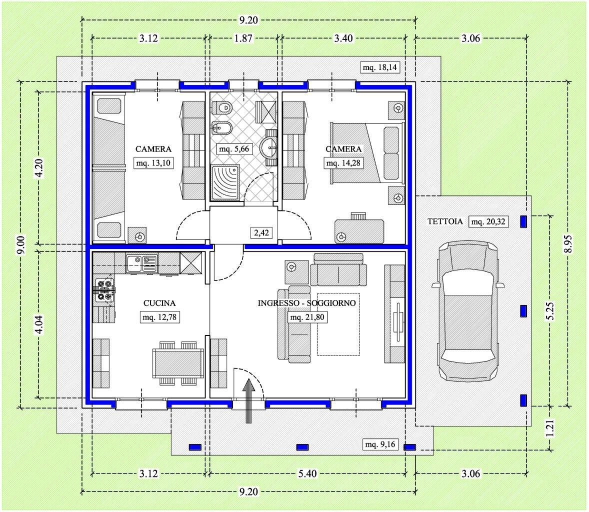 Progetto giardino villetta idea creativa della casa e for Progetti ville a due piani