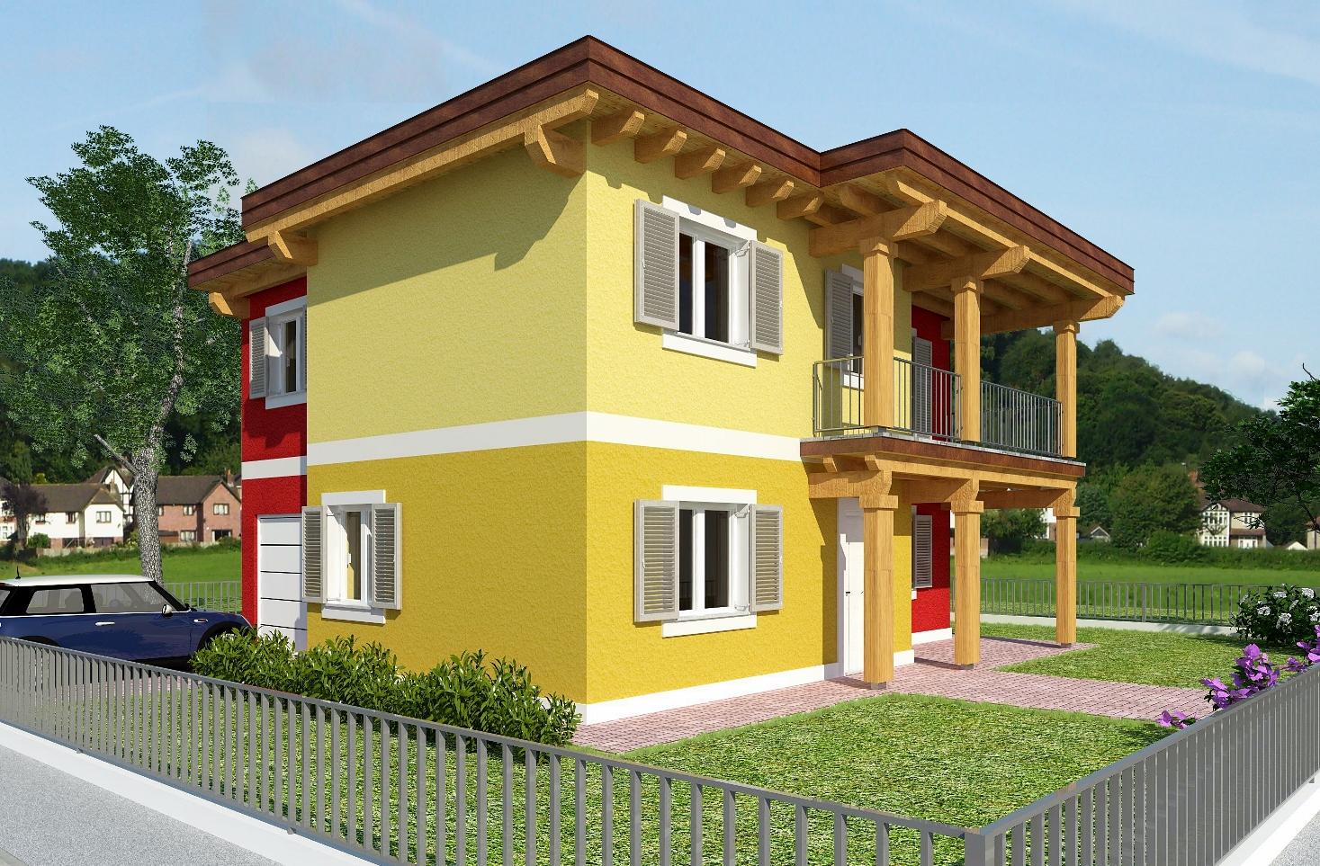 Progetti villette casa in legno a fano pu with progetti for Progetti giardino per villette