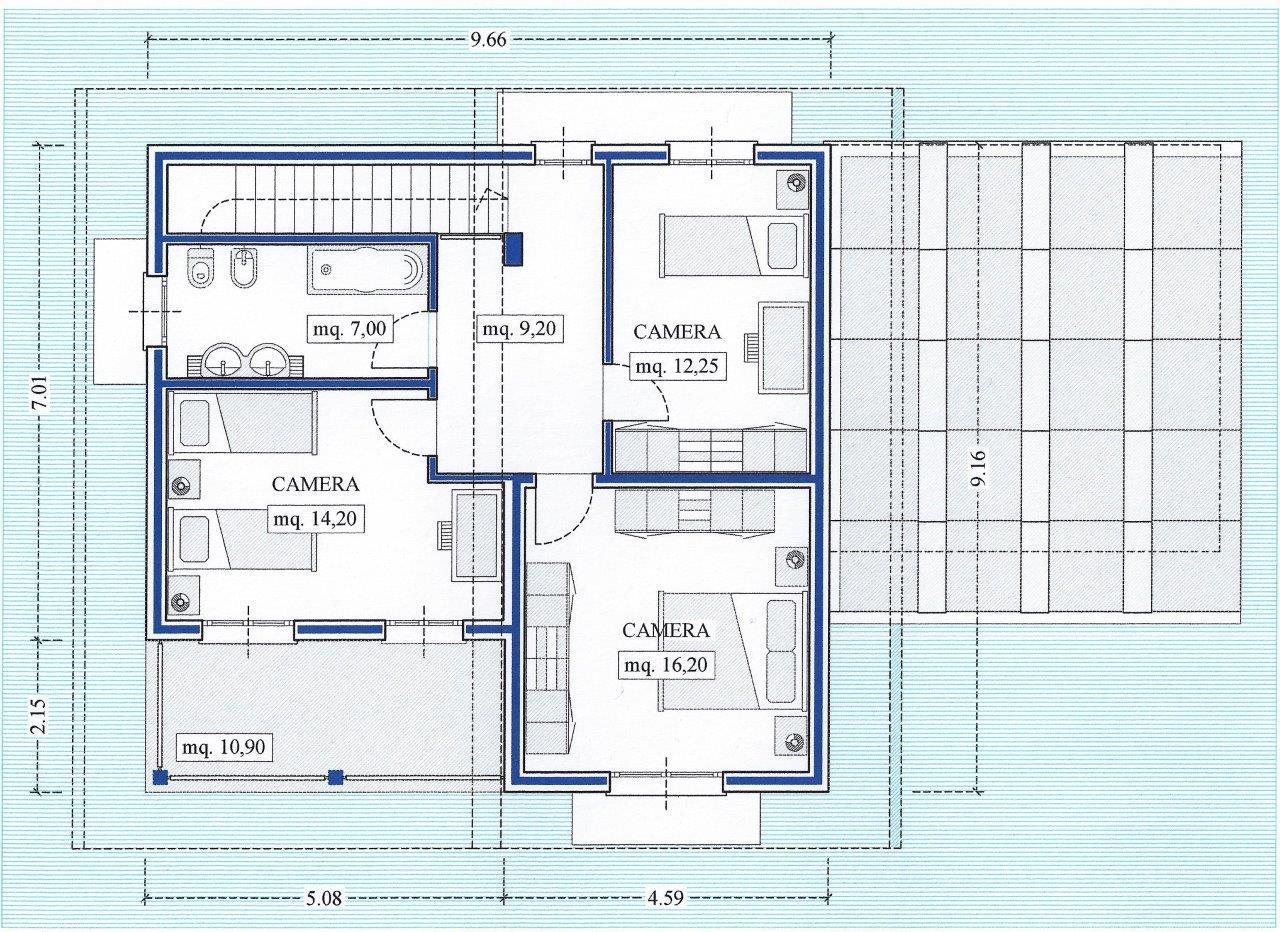 Good progetto villetta in lessinia with progetti villette for Progetti ville a due piani