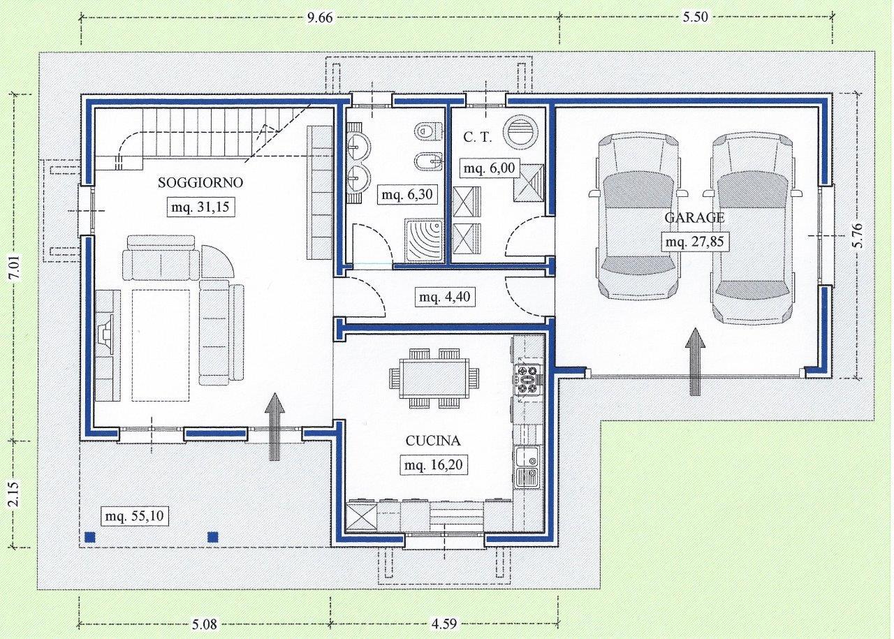Progetti case piano terra gaetano bertino progetto di una for Piani di progettazione domestica con foto
