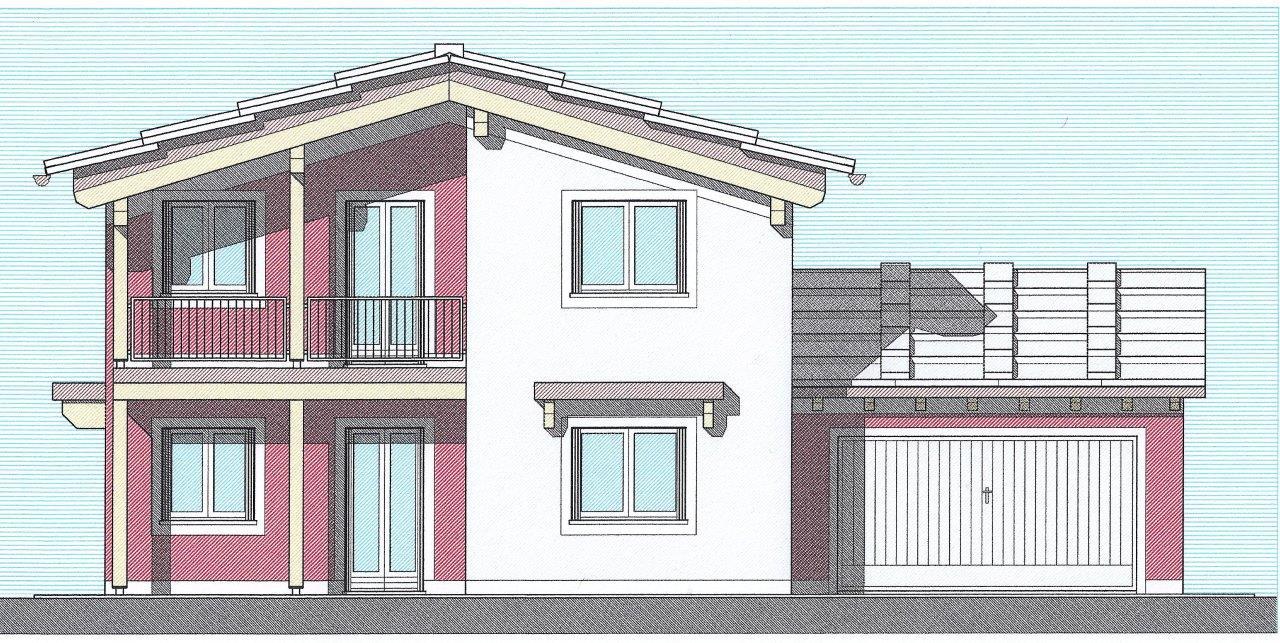 Case in xlam pomhaus s r l progetto villetta in lessinia for Progetti ville a due piani
